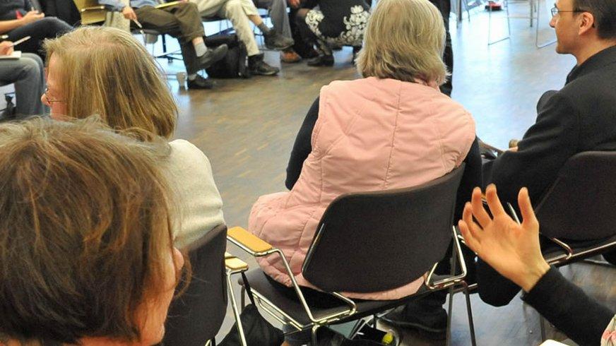 Workshop beim Selbstständigen Tag 2012 von ver.di Hamburg Gruppe Selbstständige