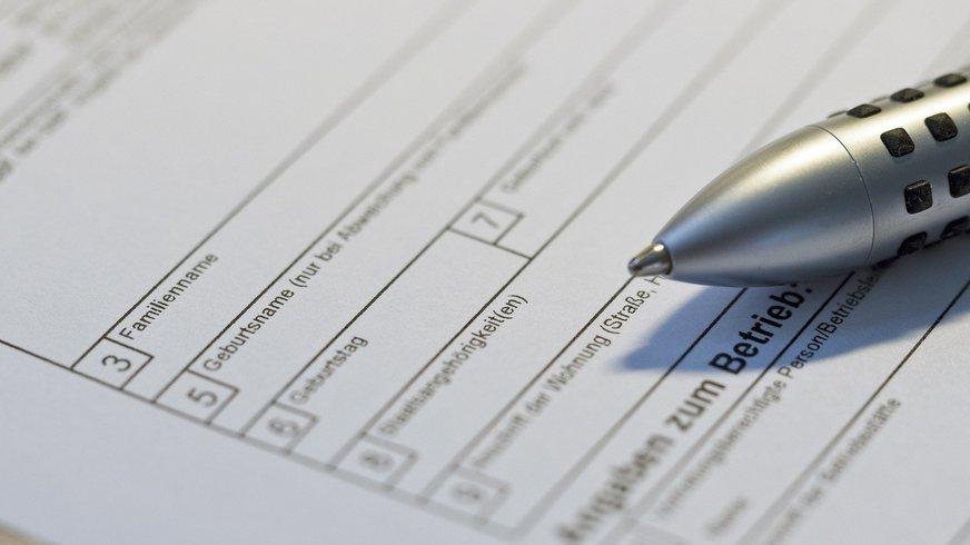 Formulare und Stift